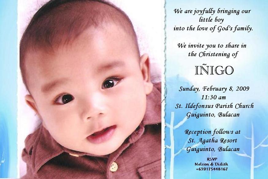Christening Invitation Card | The Adventures of Iñigo Boy