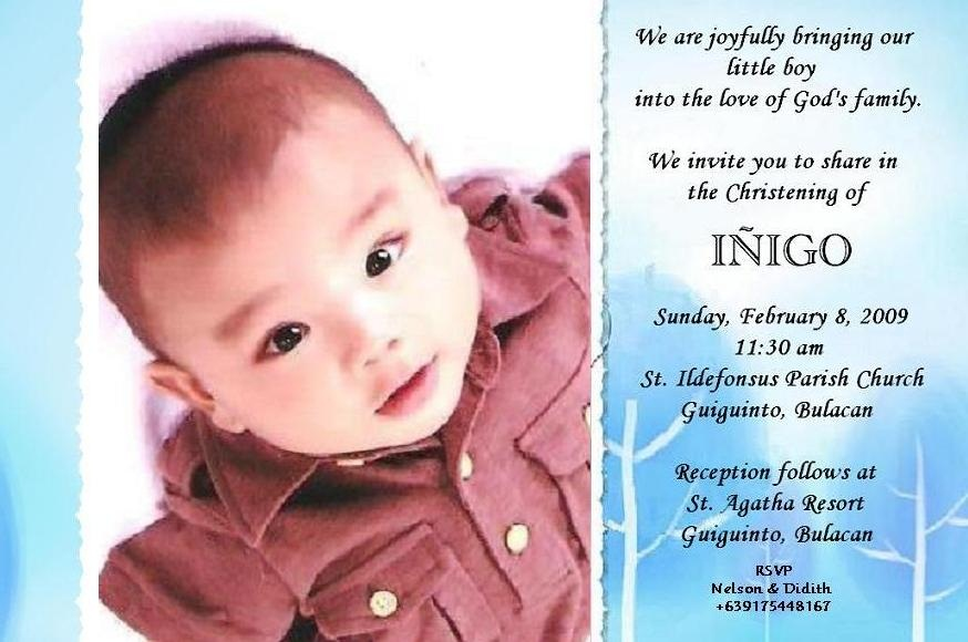 Sample Of Invitation Letter For Christening with luxury invitation example